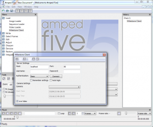Amped FIVE Milestone Client Screenshot