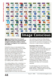 The Forensic Investigator- Image Conscious - December 2014