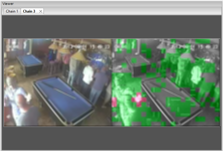 Blur applied due to footage content