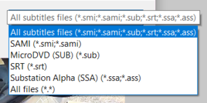 supported time stamp subtitle file types