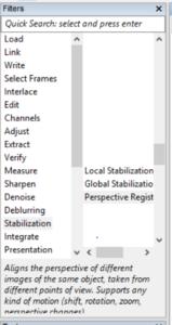 stabilization filters