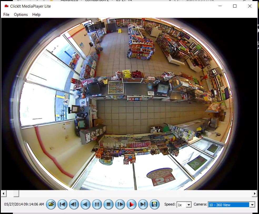 ClickIt DVR 360 degree view camera
